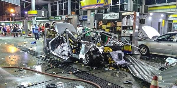 [Carro explode ao ser abastecido com GNV e mata mulher no Rio de Janeiro ]