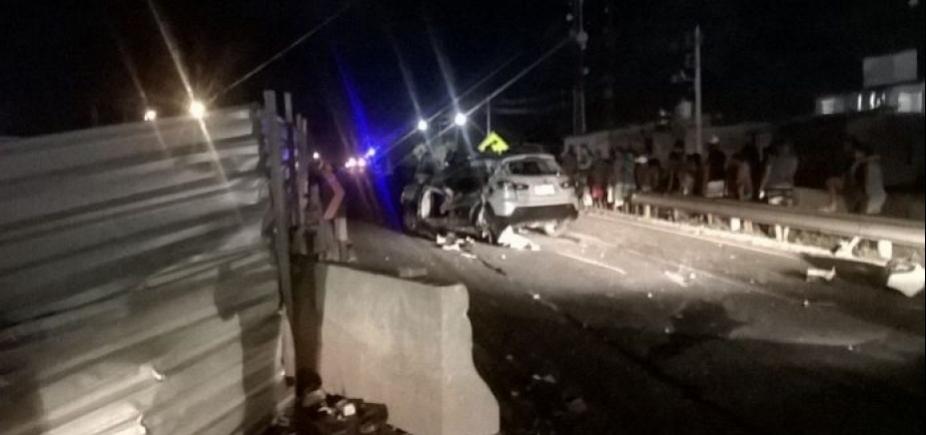[Mulher e filho do presidente do PHS na Bahia morrem em acidente na Estrada do Coco]