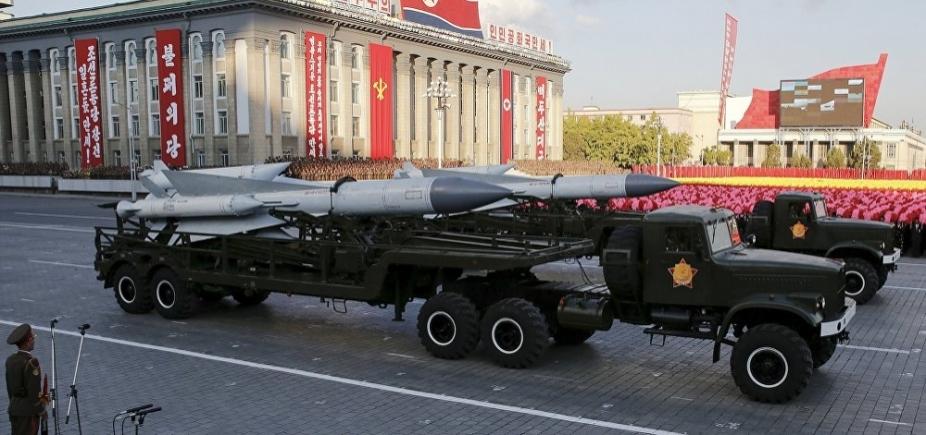 [Trump diz que Coreia do Norte está procurando problema e os EUA vão resolver ]