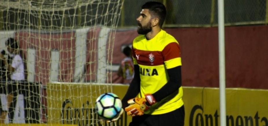 [Fernando Miguel completa 100 partidas pelo Vitória neste domingo]