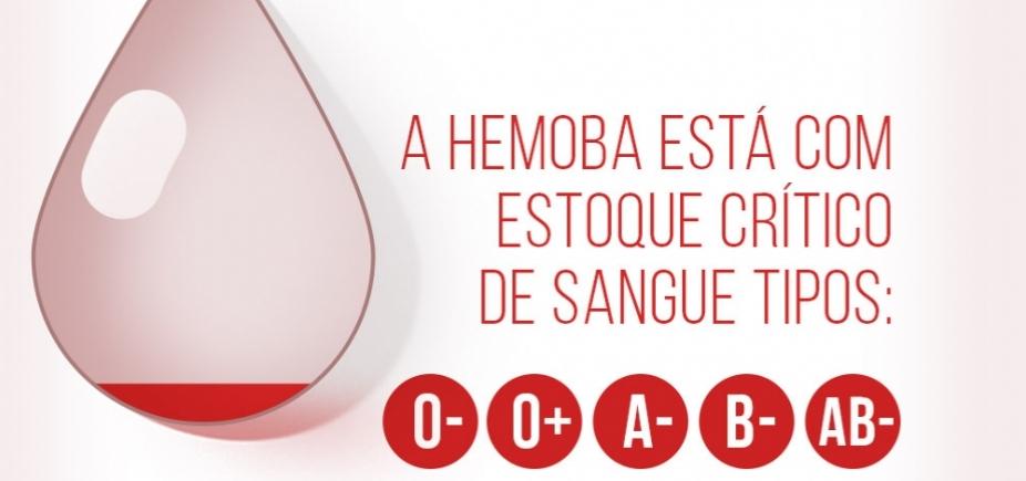 [Com estoque de sangue com fator Rh negativo baixo, Hemoba pede doadores]