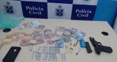 Líder de tráfico é preso com crak e Citocaína em Feira de Santana