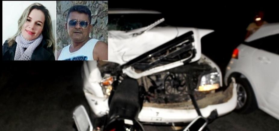 [Cansanção: Batida entre moto e caminhonete deixa dois mortos na BA-381]