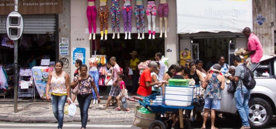 [Paralisação não afeta shoppings de Salvador; comércio de rua não funciona plenamente]