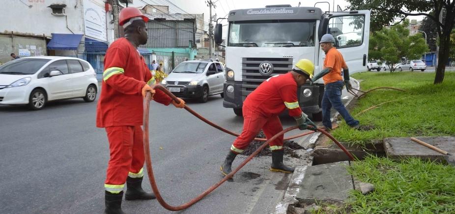 [Prefeitura promoveu limpeza de 24 mil metros de rede de drenagem em abril]