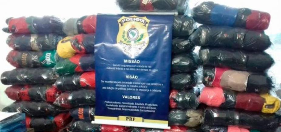[Quase cinco mil bonés falsificados são apreendidos pela Polícia Rodoviária]