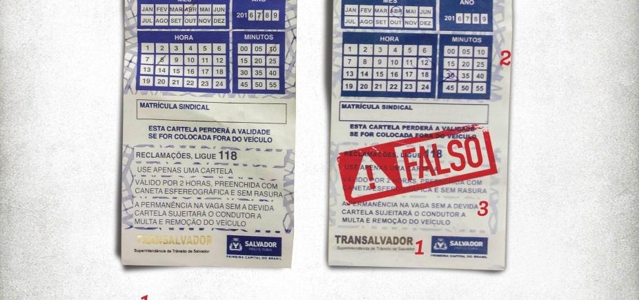[Falsificação de cartelas de Zona Azul é realidade em Salvador; aprenda a identificar para não ser multado]