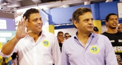 Ronaldo Fenômeno é ironizado por apoio a Aécio: 'Cadê o amigo?'