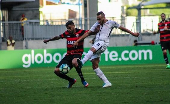 Vitória perde por 1 a 0 para o Corinthians e amarga primeira derrota no Brasileirão