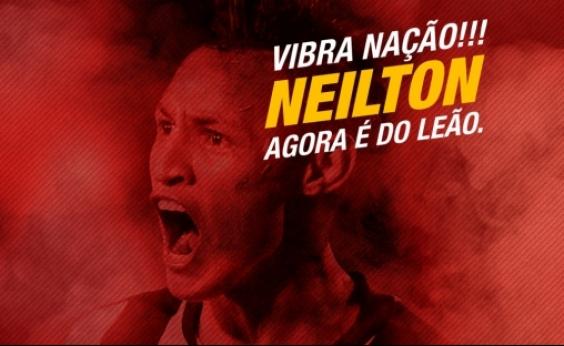 Vitória anuncia a contratação do atacante Neilton; reforço será apresentado na sexta