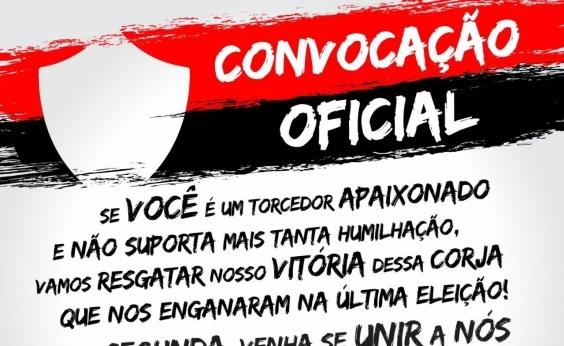 Oposição do Vitória convoca torcedores para protesto no Barradão: Vamos resgatar o clube dessa corja