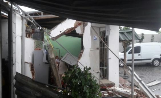Bandidos explodem cofre de posto de combustível na BR-324