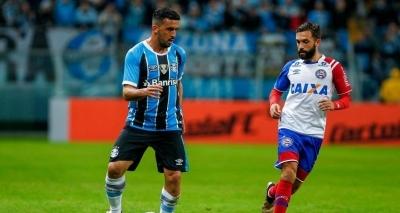 Bahia vacila no fim e perde para o Grêmio por 1 a 0 fora de casa