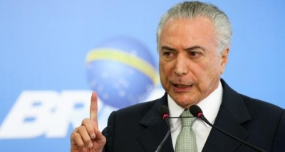 Temer presta solidariedade a Portugal por grave incêndio