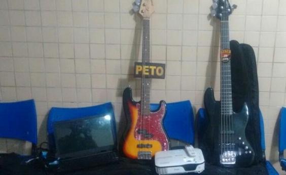 PM recupera instrumentos furtados de Igreja; equipamentos estavam sendo vendidos na OLX