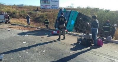 Ônibus de acidente em Minas Gerais estavairregular