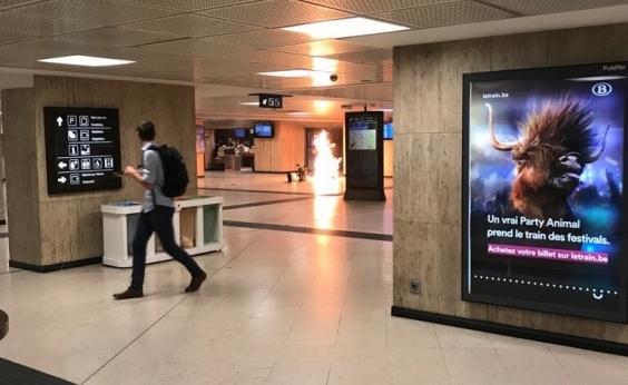 Explosão em estação de trem de Bruxelas interrompe tráfego