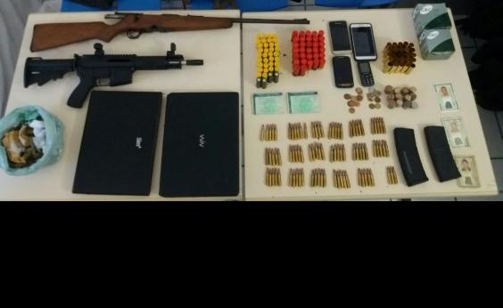 Quadrilha especializada em roubo a banco é presa com fuzil em Barra do Jacuípe