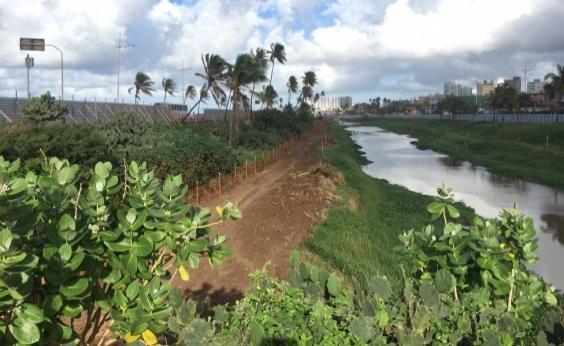 Liminar da Justiça suspende obras de drenagem do Rio Jaguaribe; Conder desconhece decisão