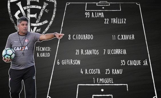 Vitória divulga escalação para partida contra o Grêmio