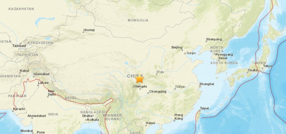 [Terremoto de 6.5 de magnitude atinge a China e deixa pelo menos quatro mortos ]