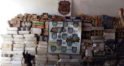 Polícia apreende três toneladas de maconha em Feira