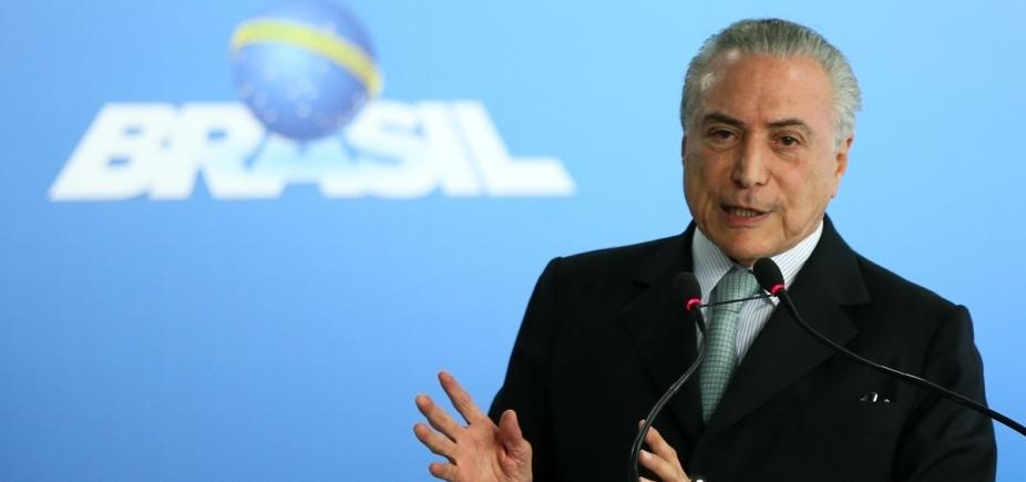 [Temer diz que grau de investimento no Brasilserá recuperado em breve]