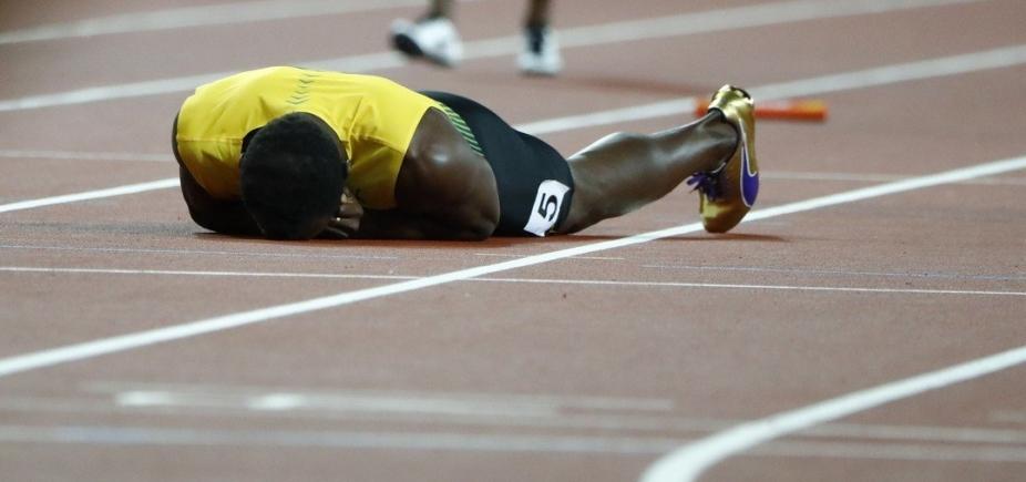 [Bolt sofre lesão e abandona prova de despedida da carreira]