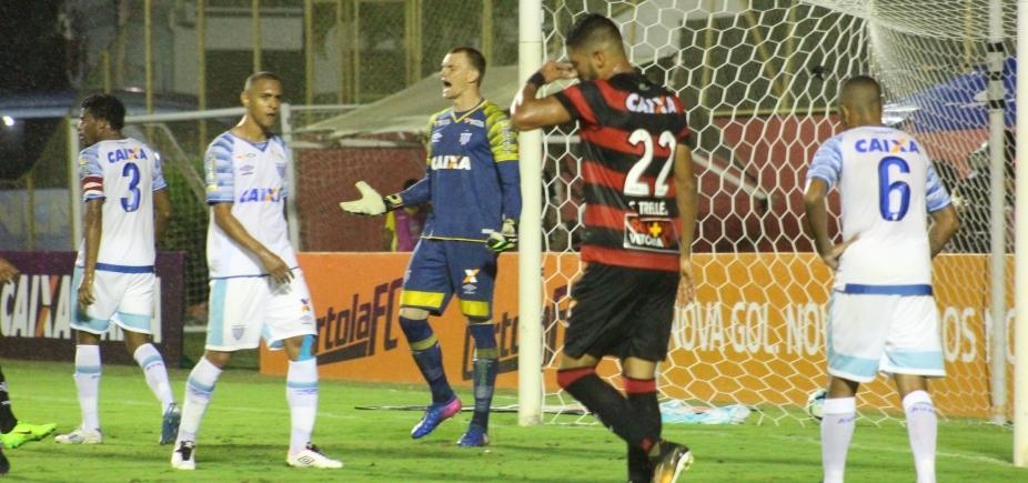 [Vitória abusa de perder gols e perde para o Avaí por 1 a 0 no Barradão]