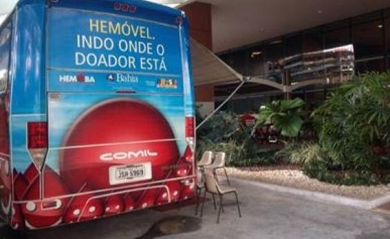 Hemoba recebe doações em shoppings de Salvador até sexta-feira