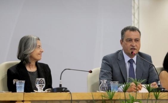 Ministra Cármen Lúcia e Rui Costa participam da abertura da Jornada Maria da Penha, em Salvador