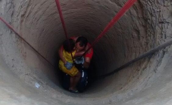 Criança cai em cisterna e é resgatada pelo Corpo de Bombeiros em Santo Antônio de Jesus