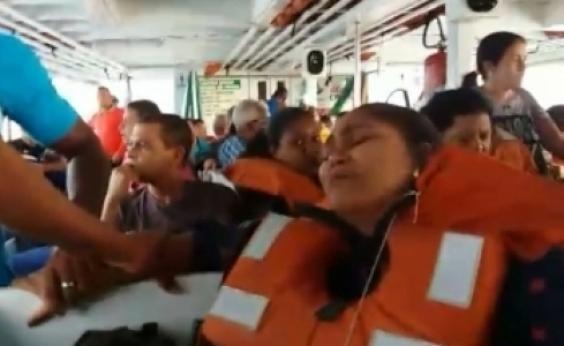 Em maio, passageiros viveram momentos de pânico em travessia de Mar-Grande; veja vídeo