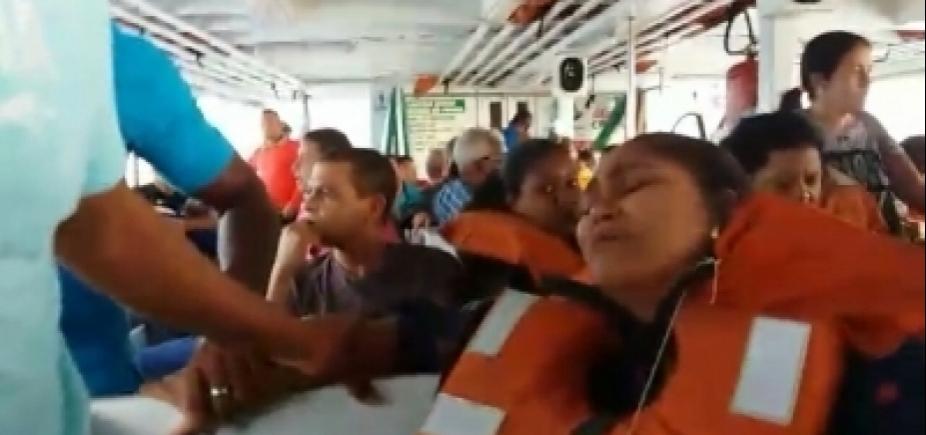 [Em maio, passageiros viveram momentos de pânico em travessia de Mar-Grande; veja vídeo]