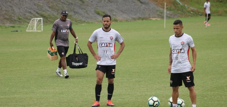 [Mancini finaliza penúltimo treino do Vitória para enfrentar o Coritiba]