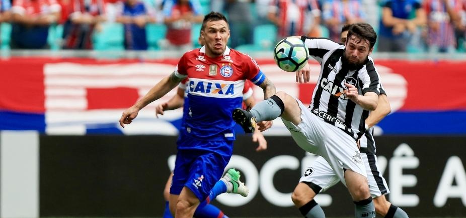 [Bahia volta a jogar mal e perde por 2 a 1 para o Botafogo na Fonte Nova]