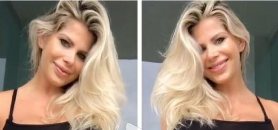 [Karina Bacchi exibe novas curvas após dar à luz: \
