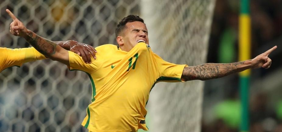 [Coutinho dá show, Brasil vence o Equador por 2 a 0 e se isola na liderança das Eliminatórias]