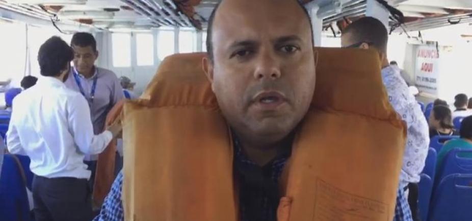 [Após matéria da Metrópole, vereador faz blitz em embarcação da travessia Salvador-Mar Grande]