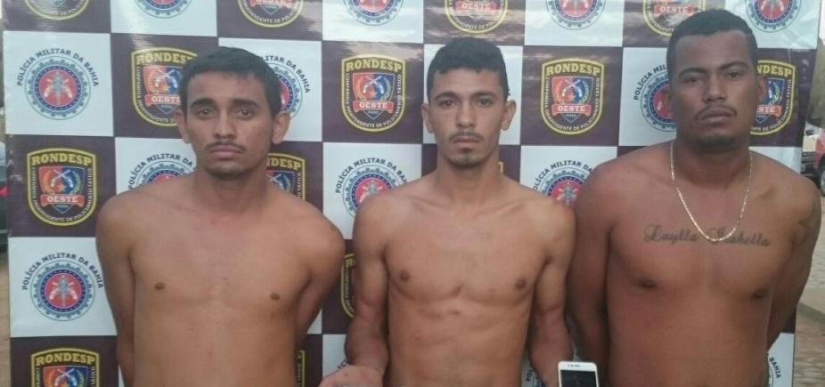 [Trio acusado de assalto é preso após atirar contra policial em Barreiras]