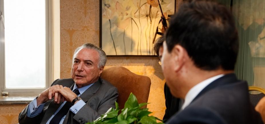 [Temer diz que avanço do PIB mostra que Brasil está \