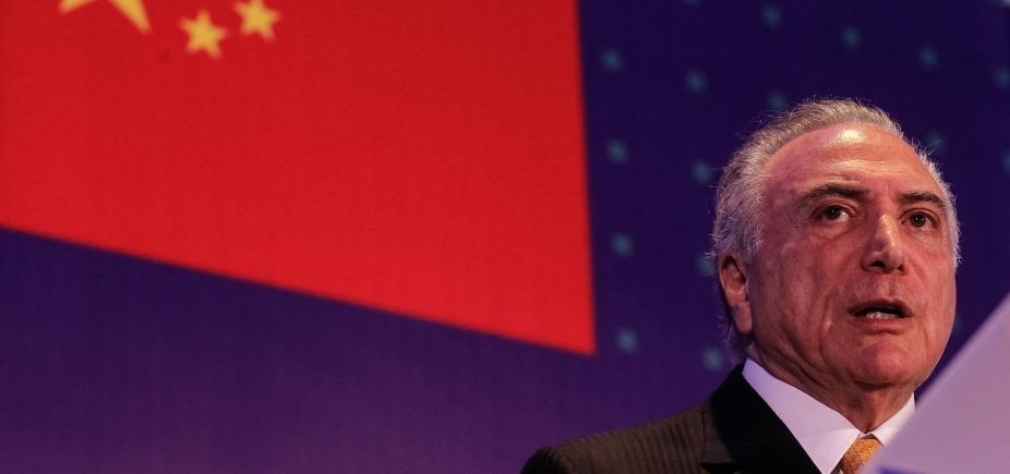 [Em discurso na China, Temer diz que economia do Brasil está \