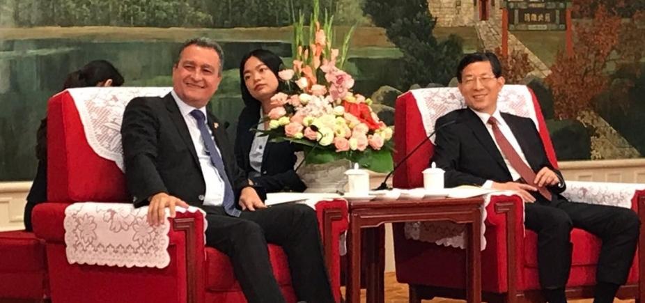 [Em reunião com Rui Costa, prefeito chinês diz que \