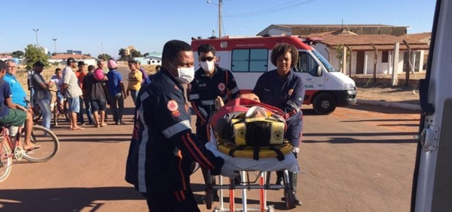 [Colisão entre carro e moto deixa dois feridos em Luis Eduardo Magalhães]