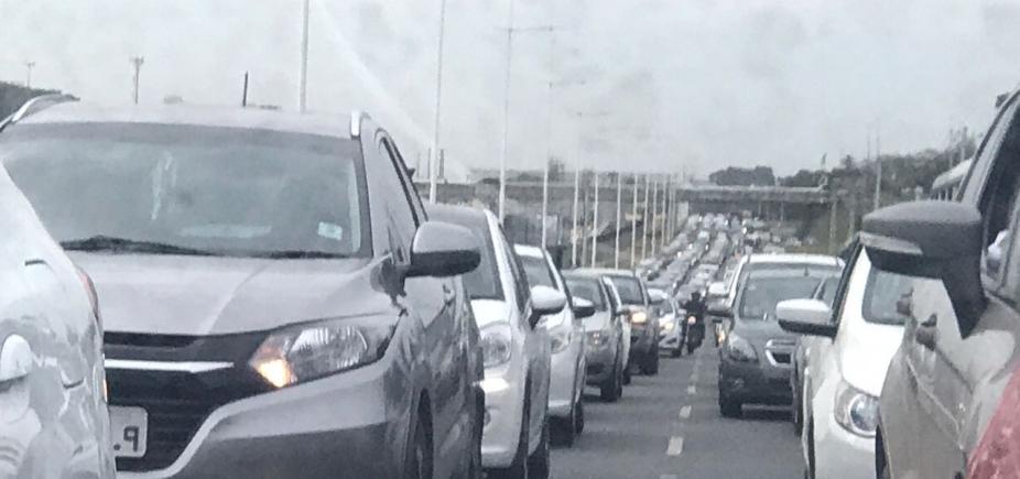 [Protesto termina, mas congestionamento continua na BA-524]