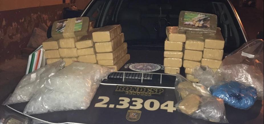 [Rondesp Central apreende 40 kg de drogas em Campinas de Pirajá]