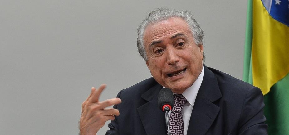 """[""""No Brasil cada um quer derrubar o outro"""", diz Temer em discurso]"""