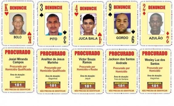 SSP atualiza Baralho do Crime com cinco novos integrantes