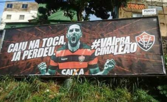 Nova campanha do Vitória gera revolta nas redes sociais: Caiu na Toca, já perdeu