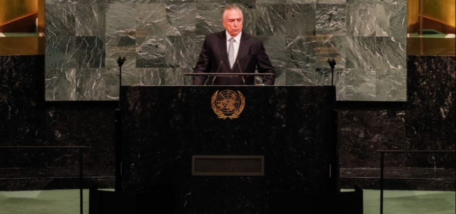 [Durante discurso na ONU, Temer defende abertura do Brasil para temas do mundo]